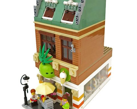 Lego moc modular yogurt shop