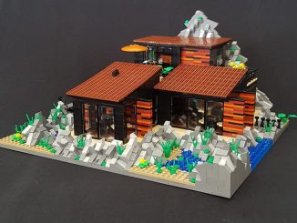 Lego case house modular building