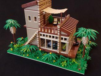 Lego building moc modular cottage