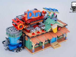 Lego modular building diner