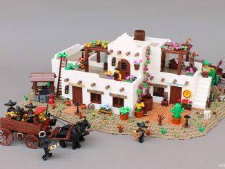 Lego diorama Mexico mariachi