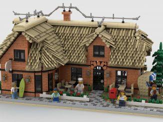 Thatched Restaurant Lego building modular