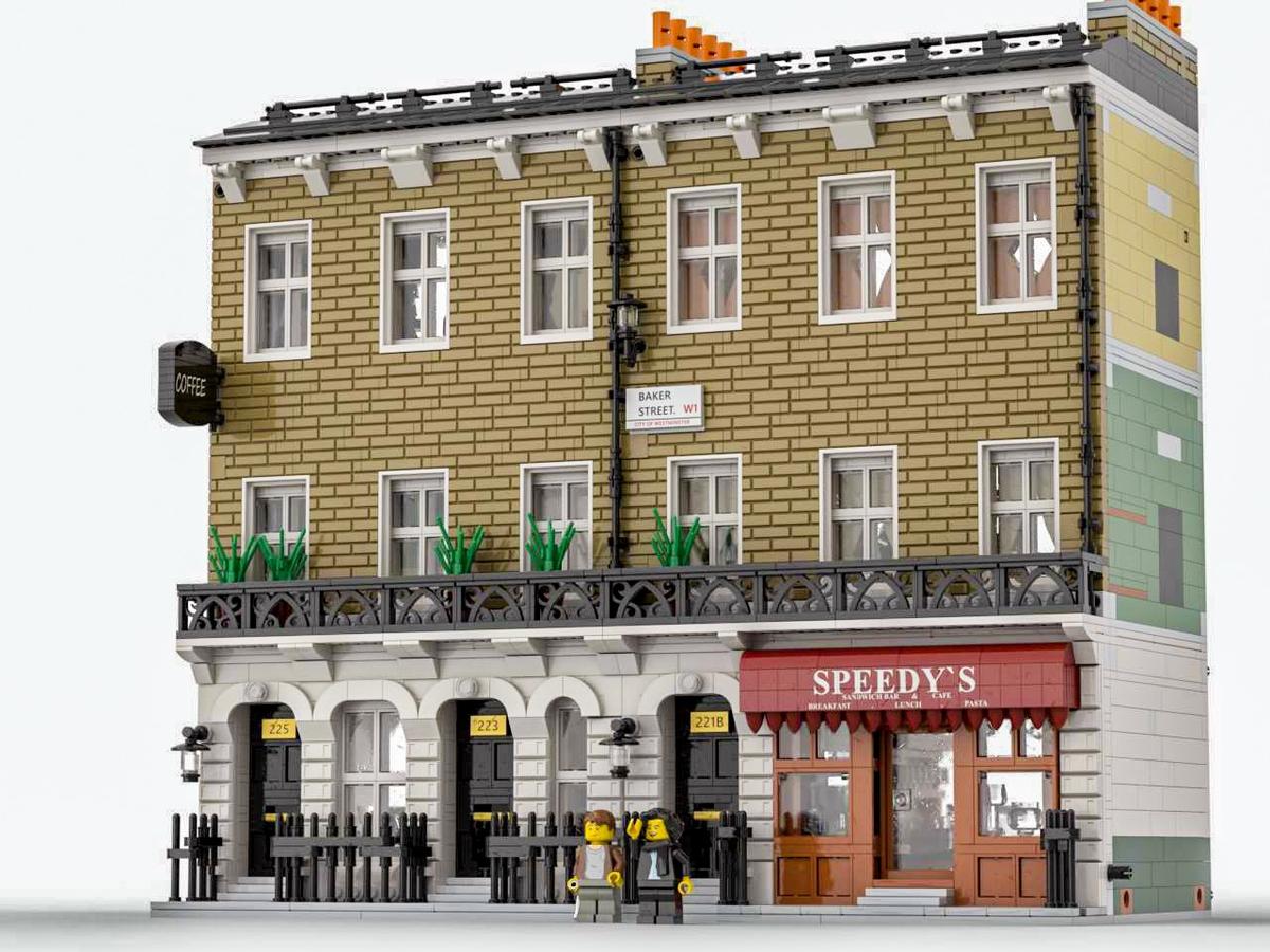 Lego building Sherlock Holmes