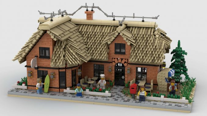 Thatched Restaurant Lego building modular