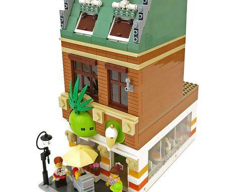 Lego moc modular yogurt shop