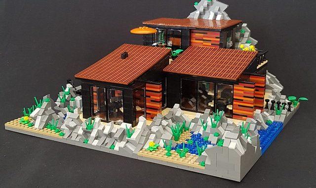 Lego case house modular building